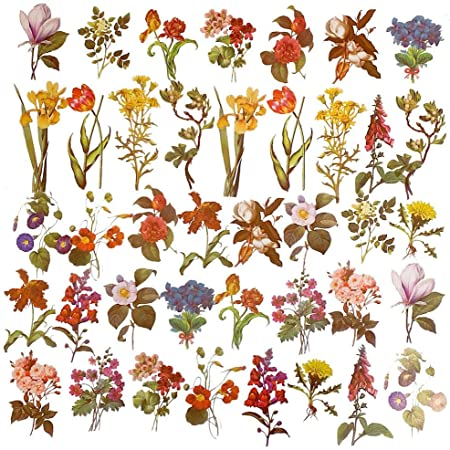 40pcs Vintage daisy leaf Flowerssticker package DIY diary  decoration sticker