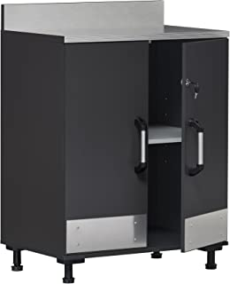 SystemBuild Boss 2 Door Base Cabinet, Charcoal Gray