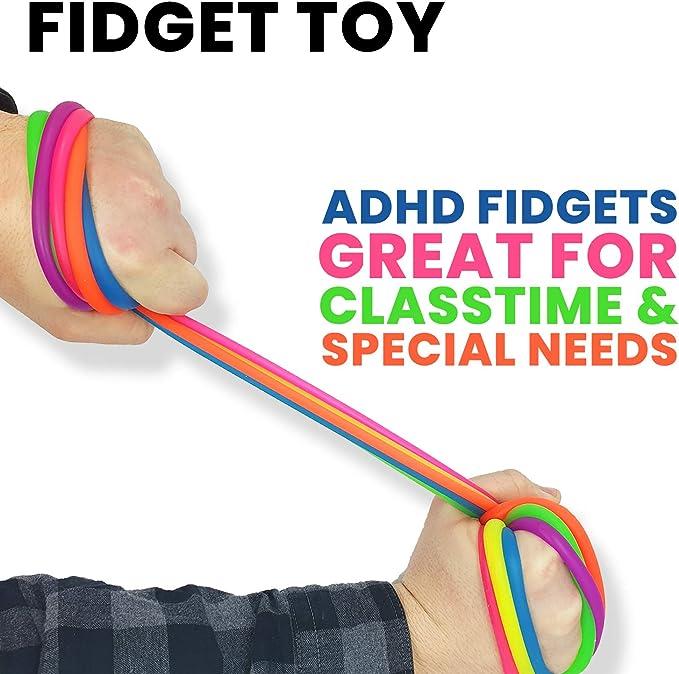 24Pcs Stretchy String Zappeln Neon Kids Sensory Toy Rope für Kinder