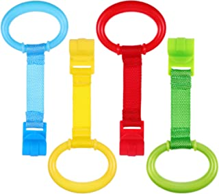 TOYANDONA 4pcs Baby Toddler Walking Assistant Pull Up Ring Safety Stand Up Rings for Toddler