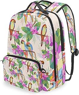 Mochila con bolsa cruzada desmontable, bonita mochila para computadora de guacamayo, bolsa para viajes, senderismo, acampada