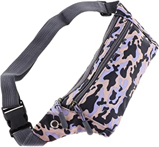 kesoto Waterproof Running Belt Gym Fitness Travel Waist Pouch Bum Bag Men Women - Yellow