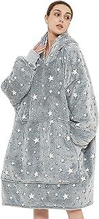 Venustas Wearable Blanket,Oversized Hoodie,Blanket Hoodie, w/ Cozy Warm Soft,Unisex Sherpa Blanket, Oversized Sweatshirt S...