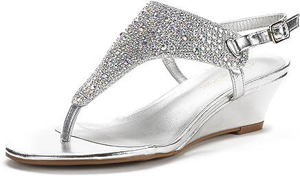 DREAM PAIRS Women's Aditi Low Wedge Dress Sandals