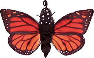 "Folkmanis Monarch Life Cycle Reversible Hand Puppet Plush, 8"", Red-Orange/Purple/Black"
