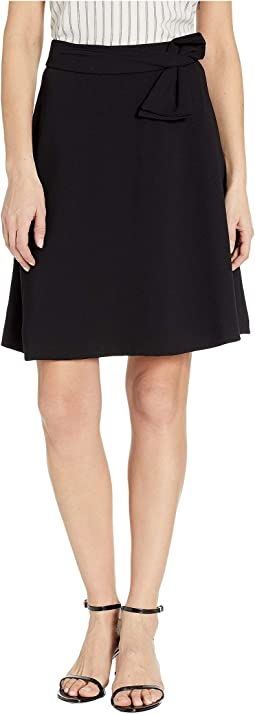 Moss Crepe A-Line Skirt w/ Bow