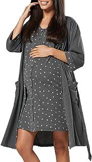 HAPPY MAMA Para Mujer Set Camisón Bata Premamá Embarazo Lactancia 1343