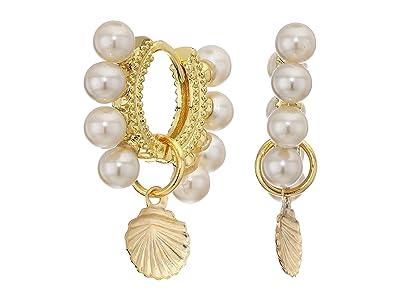 SHASHI Laguna Huggie Earrings (Gold) Earring