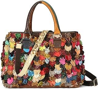 On Clearance Luxury Multicolor Tote Flower Big Shoulder Bag Floral Colorblock Handbag Patchwork Purse-Sibalasi