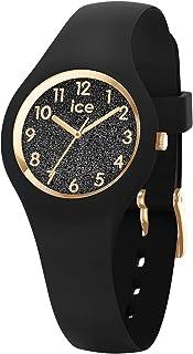 Ice-Watch - Ice Glitter Black - Montre Noire pour Femme avec Bracelet en Silicone - 015347 (Extra Small)