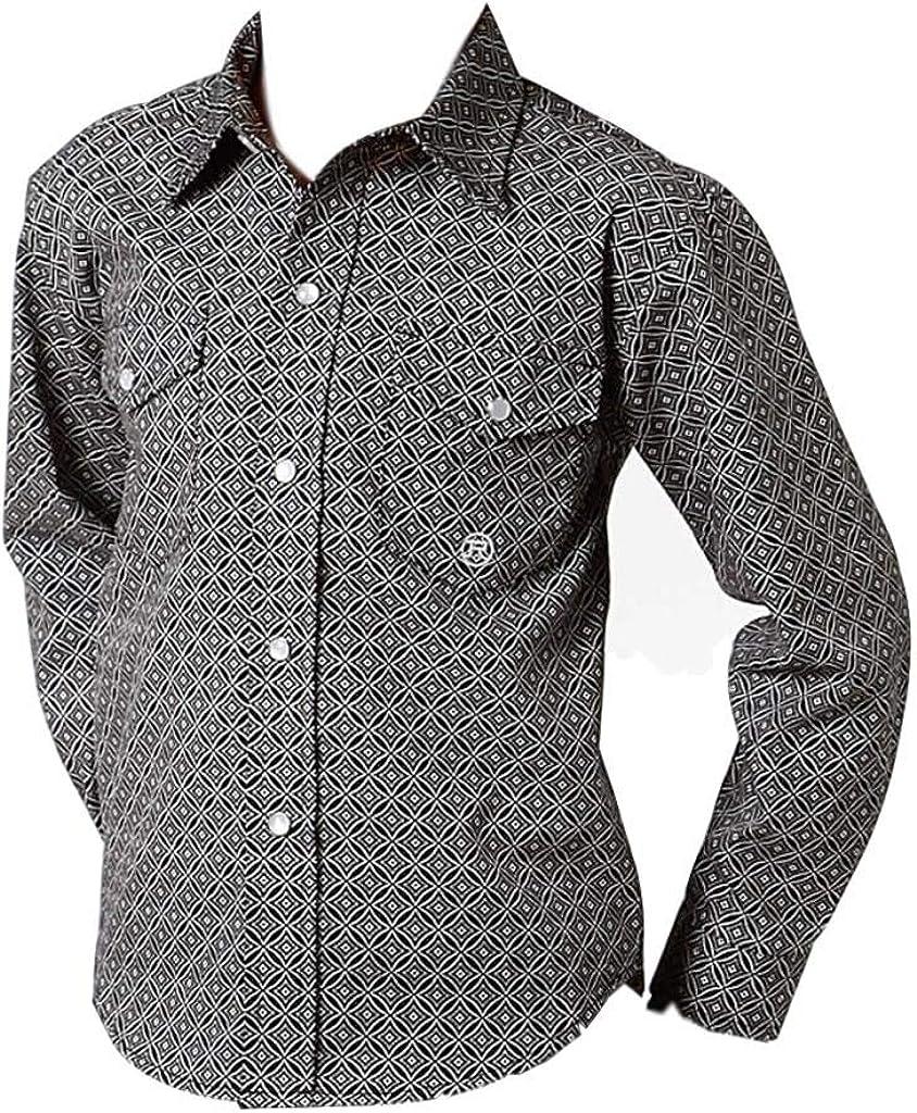 Roper Western Shirt Boys Long Sleeve Snap L Black 03-030-0225-0733 BL