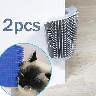 TTSAM 2 Pack Softer Cat Corner Self Groomer with Catnip Wall Corner Massage Comb Corner Scratcher Pet Grooming Brush Comb Grooming Wall Brush Self Massage Tool for Long & Short Fur Kitten Cats Dogs