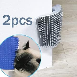 TTSAM Softer Cat Self Groomer with Catnip, Dog Cat Corner Groomer,Wall Corner Scratcher Comb,Grooming Brush, Perfect Scratch Tool for Long & Short Fur Cats/Dogs