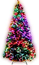 8FT Christmas Tree 2.4M Pre-lit Optic Fibre Xmas Faux Tree Multi-Colour Lighting Effect Jingle Jollys Holiday Decoration I...