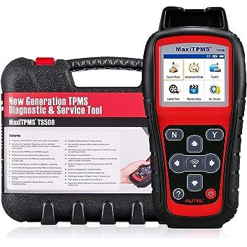 Autel TS508 TPMS Relearn Tool Tire Pressure Monitor - MaxiTPMS TS508 TPMS Reset Tool Program 16 MX-Sensor Key Fob Testing Read/Check/Active Tire Sensor DTCs for all 315/433MHz (Upgraded TS401/408/501)
