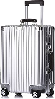 Kroeus Carry On Luggage Suitcase Aluminum Magnesium Alloy Body 29 Inch Silver