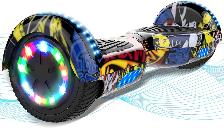 MARKBOARD Hoverboard, Hoverboard niños, Hover Scooter Board 6.5 Pulgadas con Fuerte Dual Motor, Luces LED de Ruedas Coloridas incorporadas, con Bluetooth y Altavoz, Regalo para Niños
