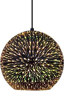 Huahan Haituo Nowoczesna lampa wisząca nowoczesny żyrandol 3D kolorowe szkło wiszące światło kuchnia wyspa jedzenie zawies...