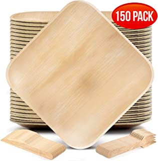 Palm Leaf Plates Party Pack (50 8