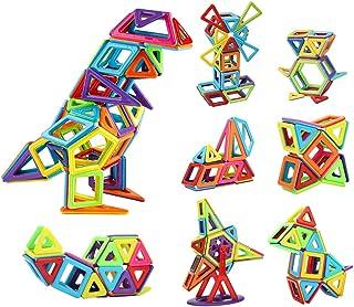 Innoo Tech Magnetic Building Blocks, Magnetic Building Tiles, 68 Pieces Magnetic Shapes, Magnet Blocks Set 3D Building Blo...