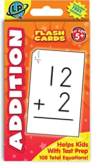 Eureka Addition Math Flashcards for Kids, 5.25'' W x 3.25'' H