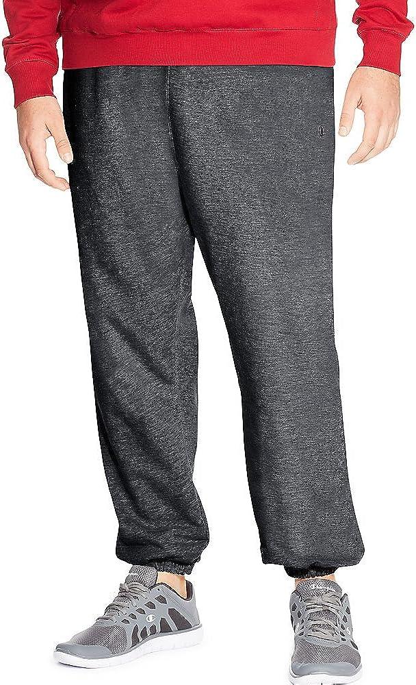 Champion Big Tall Men`s Fleece Pant, CH106, 4XLT, Granite Heather