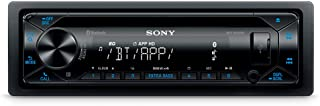 Sony MEX-N4300BT Car Radio with CD, Dual Bluetooth, USB and AUX Connection Hands-Free Calling, 4 x 55 Watts, Blue