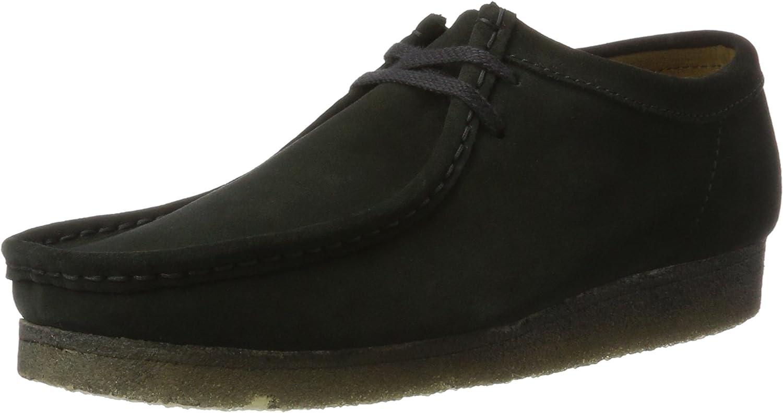 Clarks Original Mens Wallabee Black Suede shoes Size 5 UK