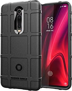 落下防止保護シェル Shockproof Protector Cover Full Coverage Silicone Case for Xiaomi Mi 9T & Mi 9T Pro & Redmi K20 & K20 Pro (Color : Black)
