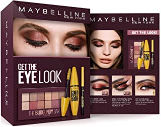 Maybelline New York The Eye Look Set (The Burgundy Bar Palette + Colossal Mascara 100% Black)