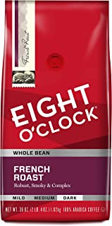Eight O'Clock Whole Bean Coffee, French Roast, 36 Ounce