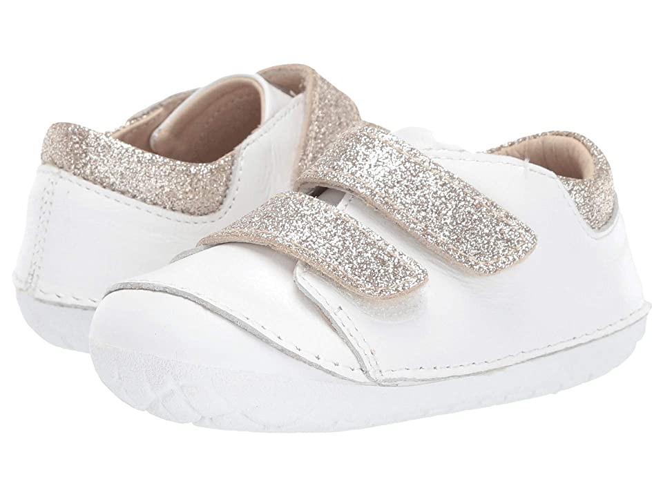 Old Soles Edgey Pave (Infant/Toddler) (Snow/Glam Cream) Girl