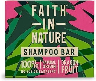Faith In Nature Champú Solido Natural de Fruta del Dragón Revitalizante Vegano y no Testado en Animales Sin Parabenos n...