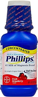 Phillips' Concentrated Milk of Magnesia Saline Laxative, Fresh Strawberry 8 oz