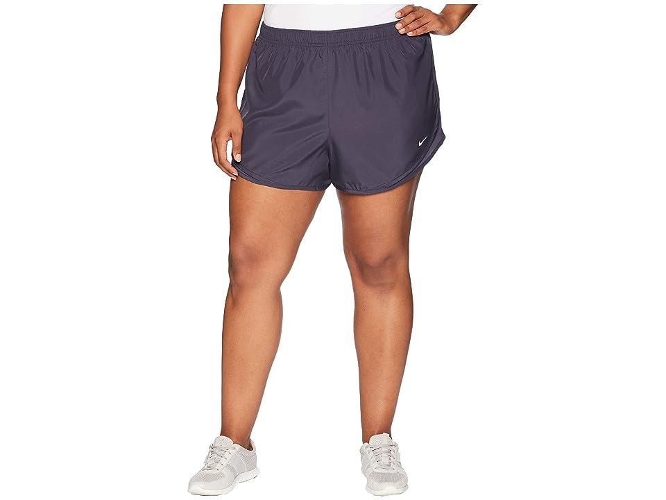 Nike Dry Tempo 3 Running Short (Size 1X-3X) (Gridiron/Gridiron/Gridiron/Wolf Grey) Women