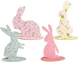 Easter Bunny Ornament Rabbit Centerpiece DIY 3D Felt Rabbit Desktop Decoration for Easter Party 4pcs/Set