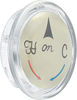 Danco, Inc. 80970 Snap Index Button, for Use with Delta 1-Handle Faucets, 1-5/16 in Dia, Plastic, Acrylic