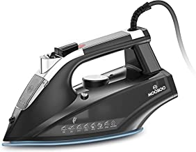 MOOSOO Steam Iron, 1800W Lightweight Portable Steam-Dry Iron for Clothes, Non-Stick Soleplate Home Steam Iron, Anti-drip I...