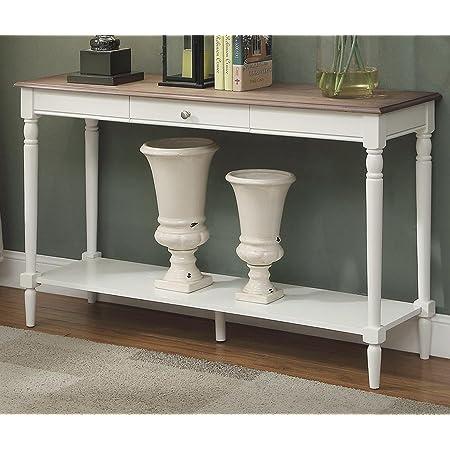 Amazon Com Signature Design By Ashley Shawnalore Sofa Table W Fixed Shelf Whitewash Wood Furniture Decor