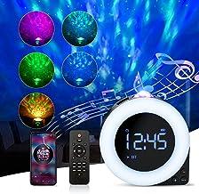 SGAINUL sterrenhemel projector met wekker, sterrenprojector nachtlampje met afstandsbediening, sterprojector/klok, witte r...