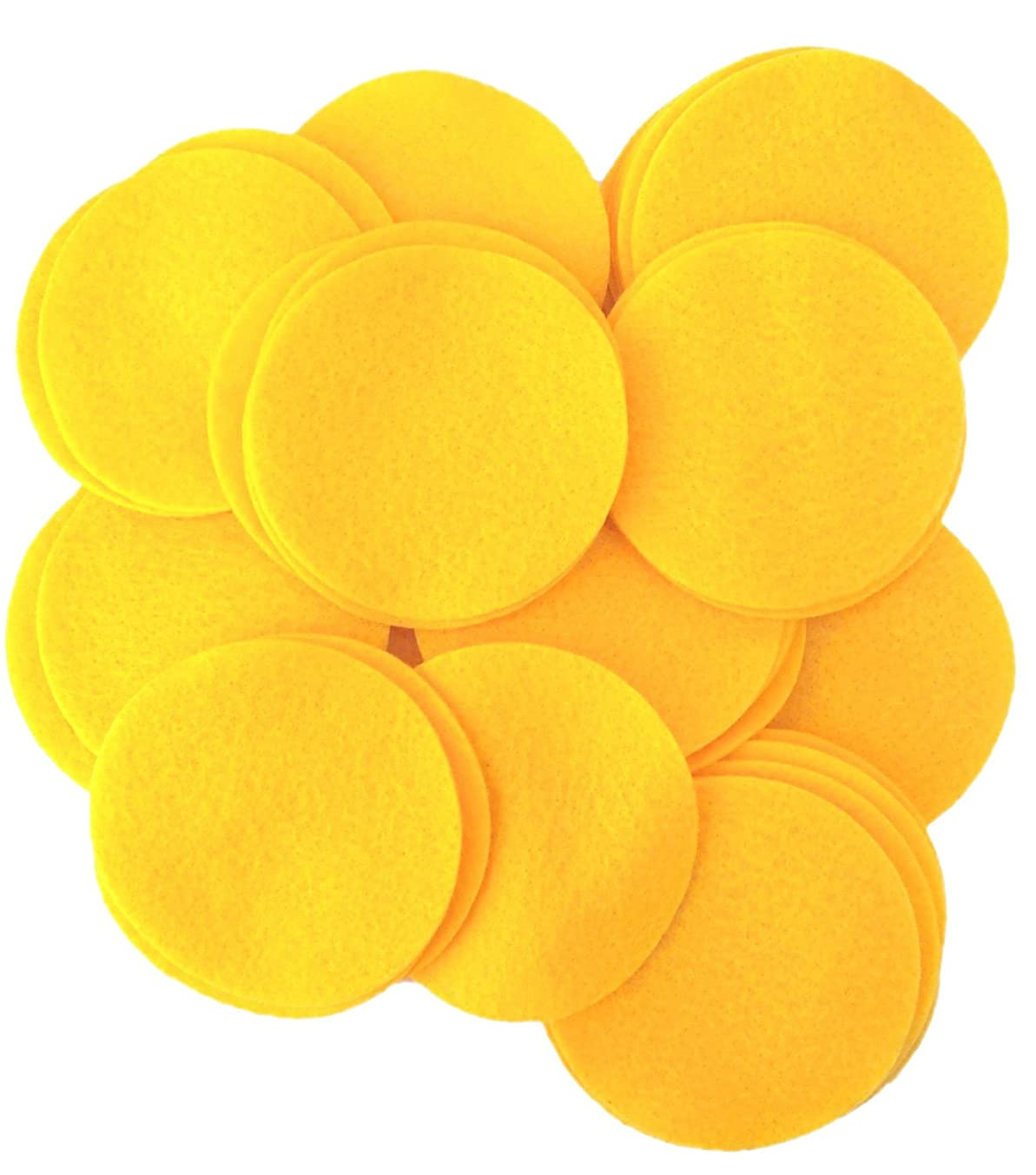 Playfully Ever After 5 Inch Mustard Yellow 18pc Felt Circles