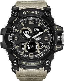 Men's Sports Analog LED Digital Wrist Watch Dual Quartz Military Army Sport Watch Water Resistant