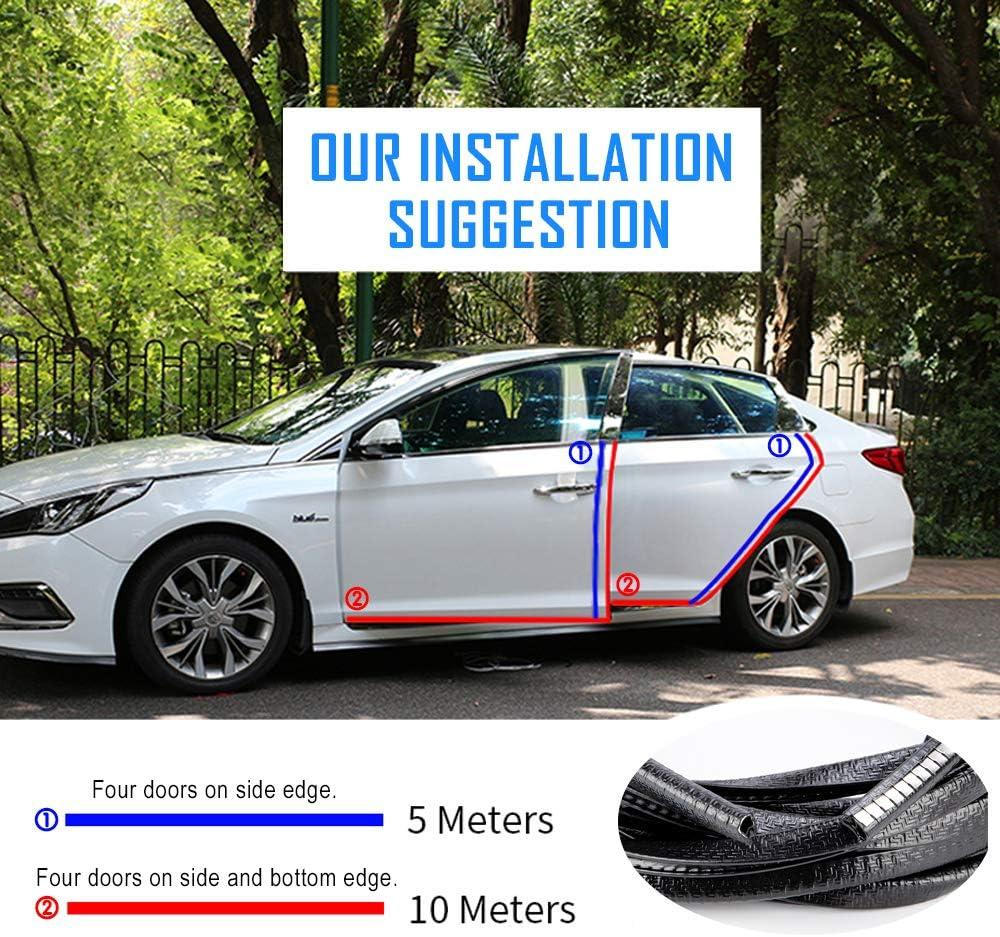 XIANKO Car Door Edge Guards 16Ft U Shape Car Edge Protector Car Door Trim Rubber Seal Protection Universal Fit 5M White