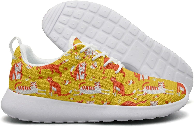 Hoohle Sports Funny Cats Women Roshe One Flex Mesh Running shoes Men