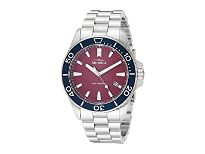 Shinola Detroit 43 mm Shinola Monster (Cardinal/Silver) Watches