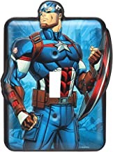 Marvel Comic Avengers Captain America - Vintage Retro Metal Switch Plate - Great for Man Caves, Wall Art, Home Decor and Much More