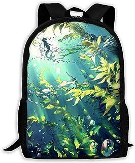 Custom Little Mermaid Sea World Casual Backpack School Bag Travel Daypack Gift