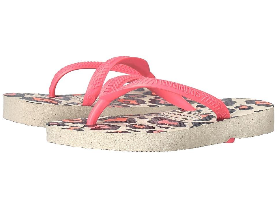 Havaianas Kids Slim Animals Flip Flops (Toddler/Little Kid/Big Kid) (Beige/Coral New) Girls Shoes