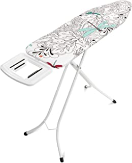 Brabantia 410482 Ironing Board 124 x 38 Dragon Fly Solid Steam Iron Ironing Table, White, 1 Piece