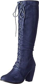 Michael Antonio Women's Meer-sue Mid Calf Boot ، أزرق بحري، 6. 5 M US